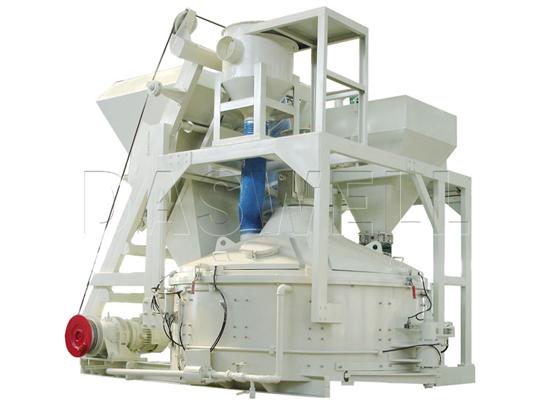 Planetaria mezcladora de eje vertical es para mezclar concreto duro seco de bajo flujo, concreto duro semiseco