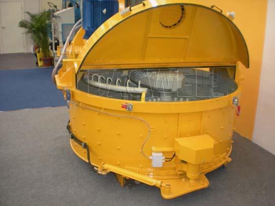 Mezcladora planetaria produce el concreto de rendimiento