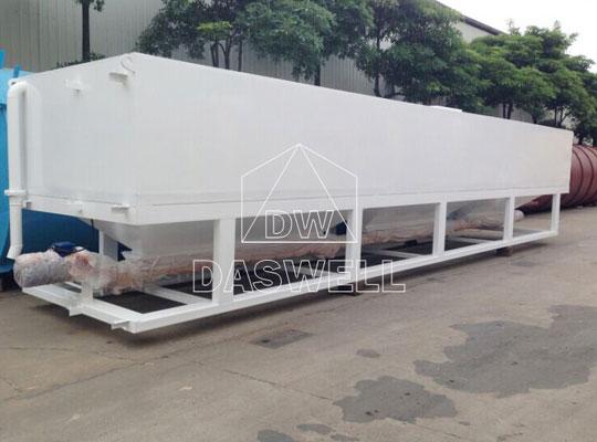 El silo de cemento horizontal se utiliza principalmente para plantas de mezcladora móviles