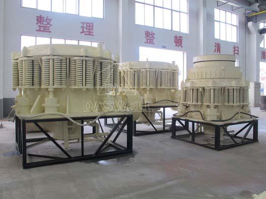 Trituradoras cónicas Symons tienen las características de estructura confiable y alta eficiencia de producción