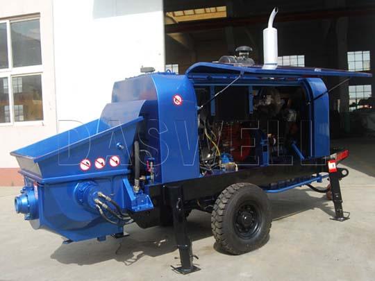 Proporcionamos la bomba de concreto estacionaria de diésel