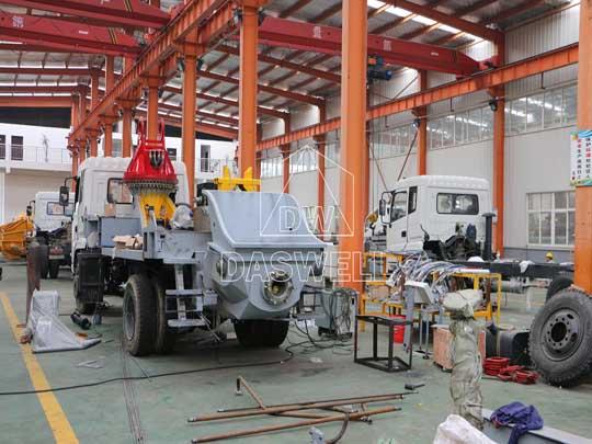 Fábrica de caminhão de bombear concreto