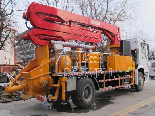 Exportamos el caminhão para bombeamento de concreto.