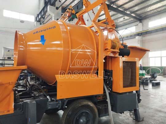 Fabricar y exportar mezcladora concreto diésel